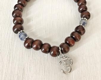 HARMONY / Simple Reminder Bracelet / Mala Bracelet / Sodalite / Ohm
