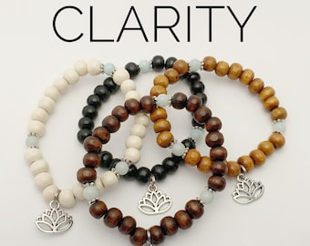 CLARITY / Simple Reminder Bracelet / Mala Bracelet / Amazonite / Lotus