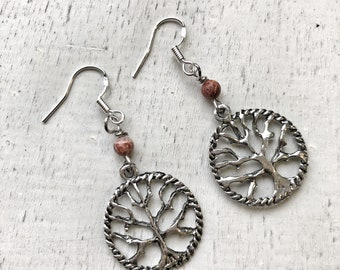 BALANCE Earrings / Agate / Sterling Silver French Wires