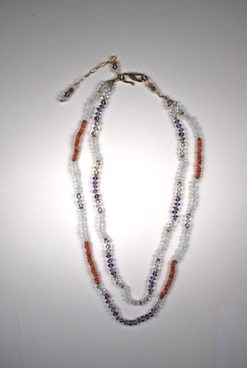 Multi-Gemstone Beaded Necklace with Earrings
