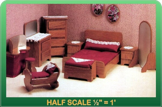 Dollhouse Miniature Cassidy Creations #CC5016 Golden Oak Bed Kit 1:24