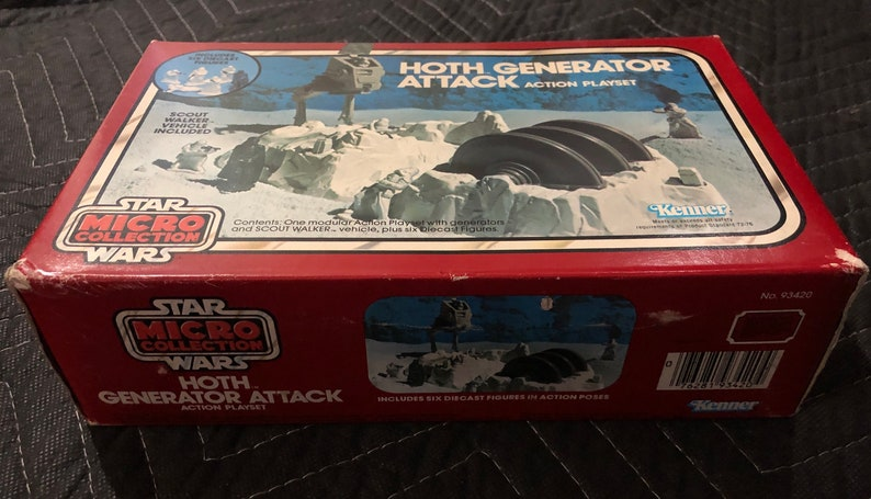 Vintage MISB 1982 Hoth Generator Attack Action Playset C-7 5 Star Wars  Micro Collection Kenner No 93420