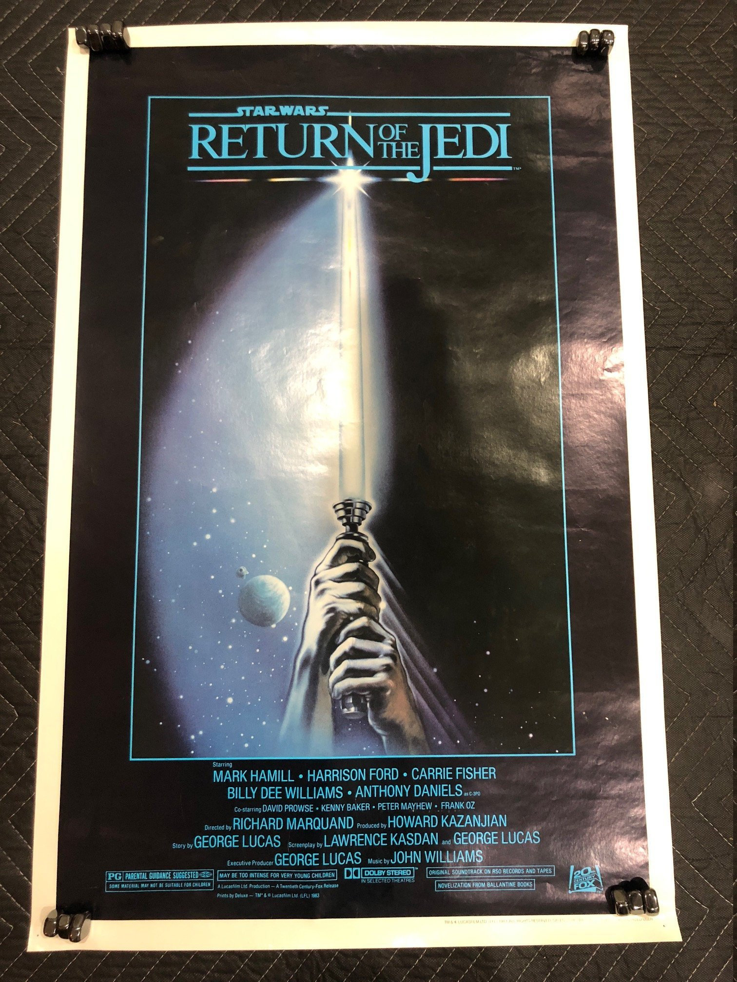 Vintage Star Wars Return of the Jedi Style A Poster C-8