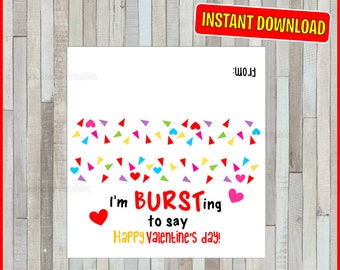 graphic relating to Starburst Valentine Printable referred to as Valentines topper Etsy