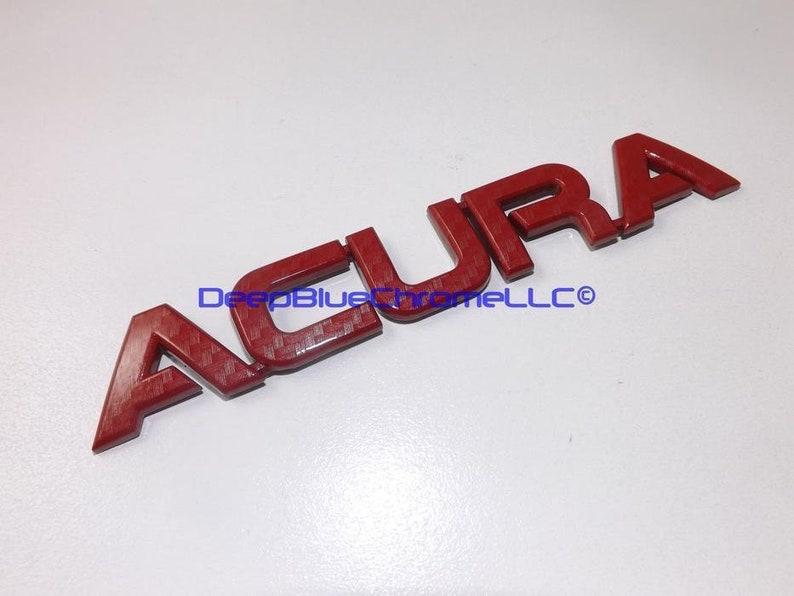 Acura RSX Type-S Red Carbon Fiber Emblem Tl TSX Rl Badge OEM Trunk Lid  Nameplate