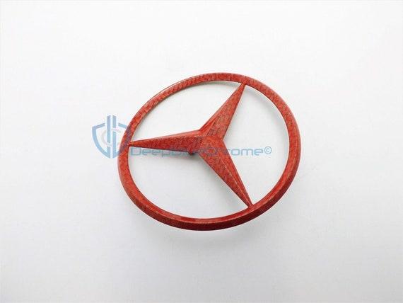Mercedes-Benz W205 Glossy Black C COUPE Star Emblem Rear Trunk Lid Logo