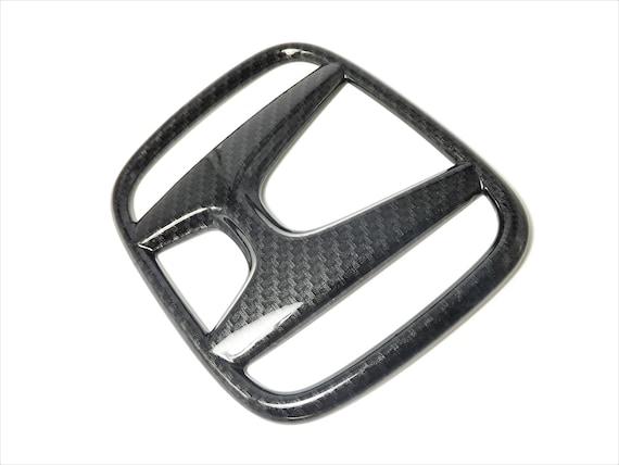 Carbon Fiber Texture Front Grille Sticker Cover For Honda Civic 10th 2016 Black