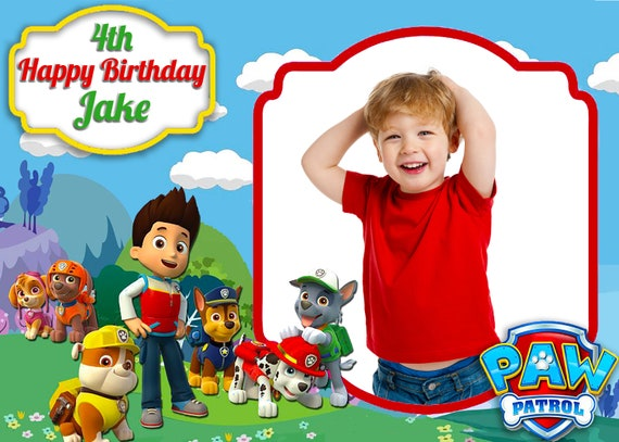 Paw Patrol Themed 4x6 Photo Booth Template