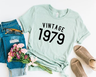 40th Birthday Shirts Gifts For Women Men Vintage 1979 Shirt Party Tee T