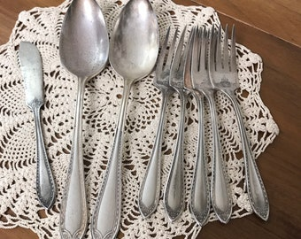 Place /& Svg Elegant Vintage Silverware 1910 SHERATON Silver Plate Flatware Jewelry Home Decor Kitchen Dining Choice Replacements