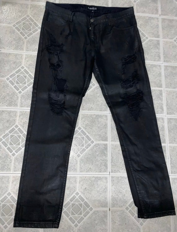 Embellish Black Ripped Biker Jeans size 38