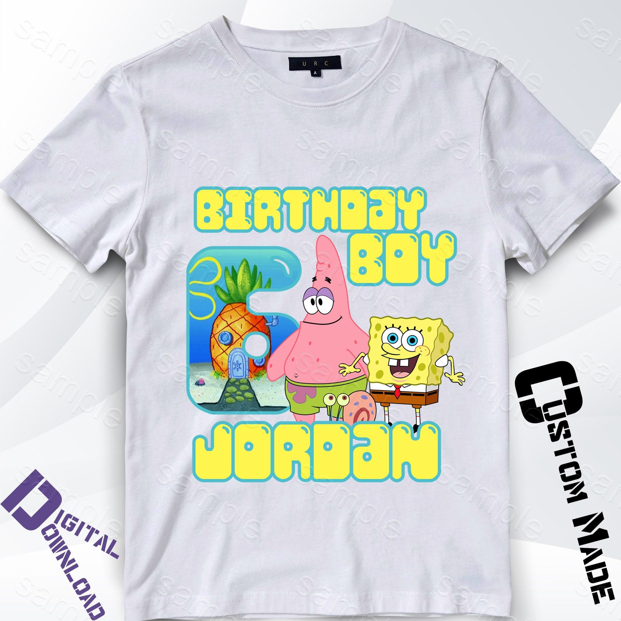 Spongebob Birthday Shirts For Toddlers