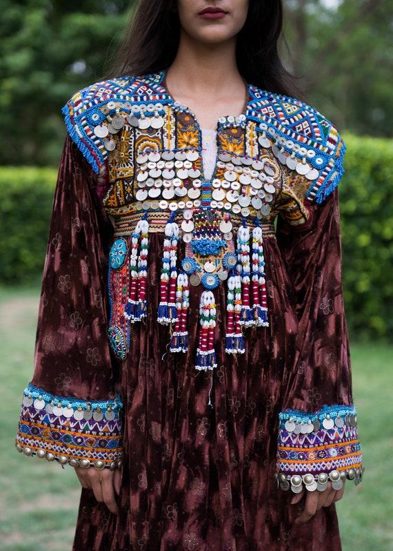 Afghani Gypsy Boho Bohemian Embroidered Jacket Dre
