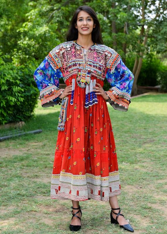 Traditional dress vintage Afghani dress afghan kuc