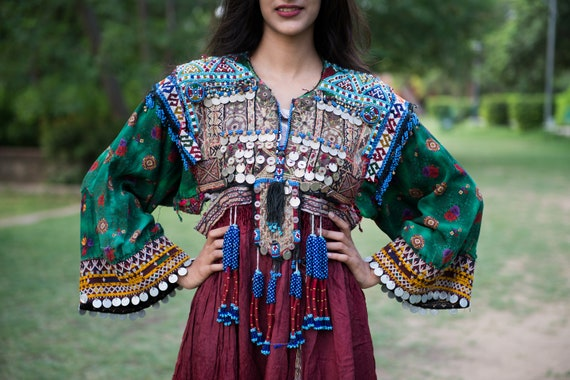 Traditional Afghani Gypsy Boho Bohemian Embroidere