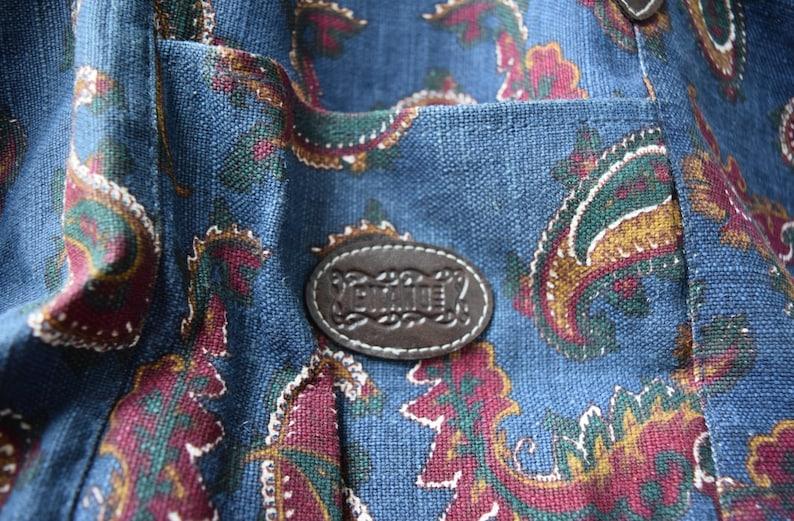 Vintage Paisley Gitano Canvas Bag Carryon Luggage Overnight Bag