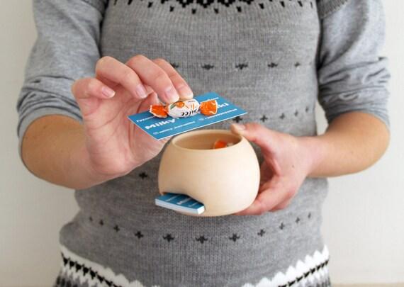 Handgemachte Keramik Boob Visitenkartenhalter Stillende Karte Halter Laktation Brust Topf Keramik