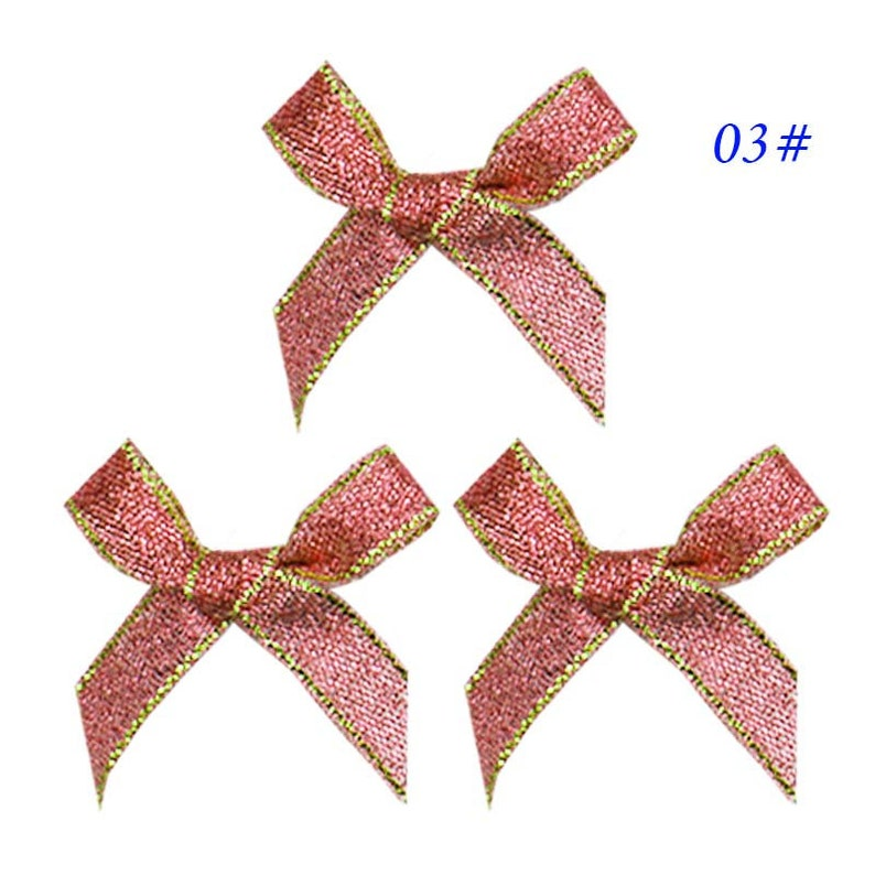 699169d1e571c 10 ribbon bows 45mm width color ribbon bow red gold silver ribbon Christmas  decoration Hair Accessories clothing accessories DIY material