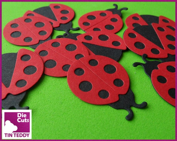 30 X SELF ADHESIVE LADYBIRDS//BUGS ~ EMBELLISHMENTS ~ TOPPERS ~ SCRAPBOOK~ CRAFTS