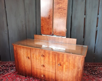 Midcentury Mirror Chest of Drawers 50s Flattering Table