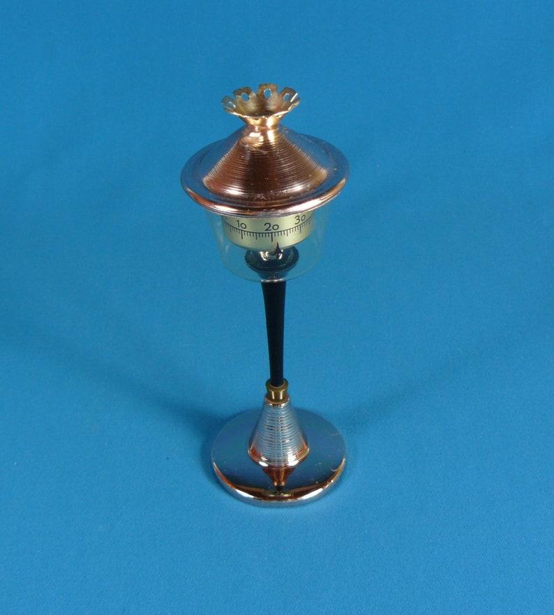 Vintage Tish-thermometer lantern desk decoration 50s German