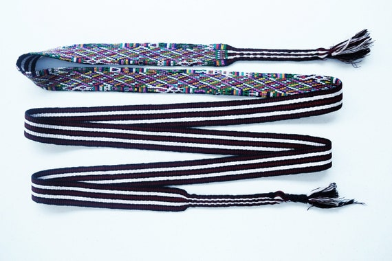 Hand woven belt / Nabaj / Guatemala / hand embroid