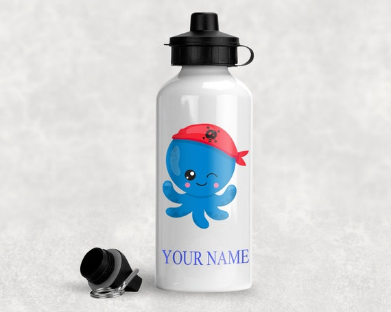 Add Any Name Personalised Pirate Water Bottle 500ml Pirate Boy