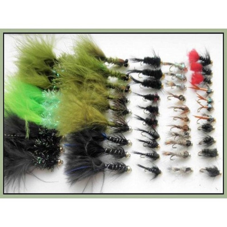 Flash Damsel 18 Pack Hothead Lures Trout Flies Size 10 and Mixed Fritz