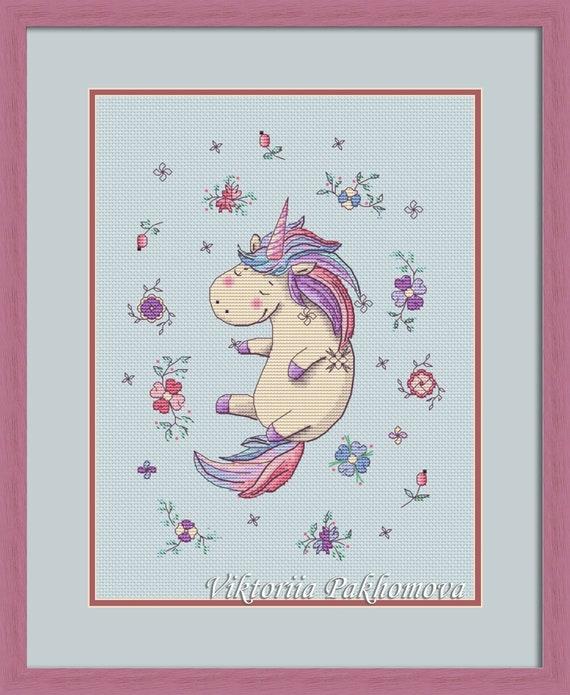 Last of the Unicorns Cross Stitch Chart//Pattern//Design//XStitch