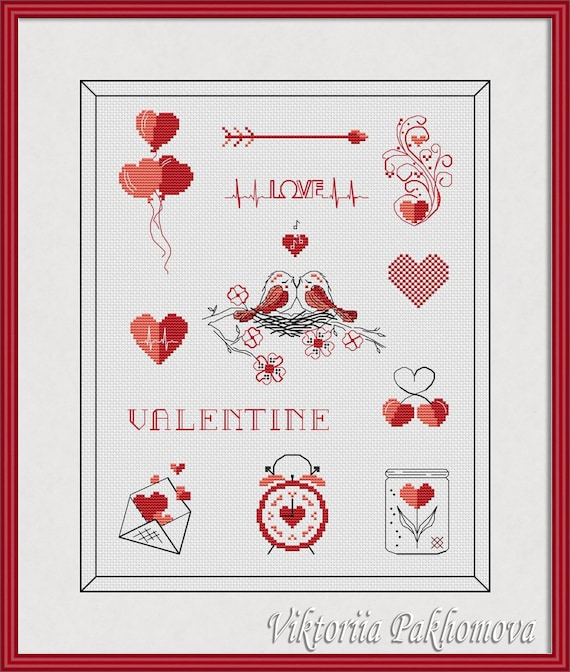 DIY Handmade Romantic Lover Wolf Cross Stitch Embroidery Kit Home Wall Art Decor