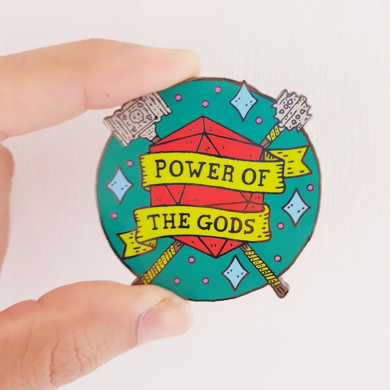 Cleric Dungeons and Dragons dnd pin - Power Of The Gods,dnd gift