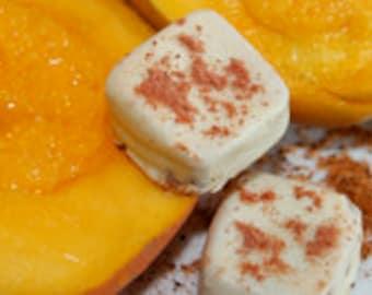 Mango Li Hing Mui; Handcrafted, gourmet caramel in white chocolate