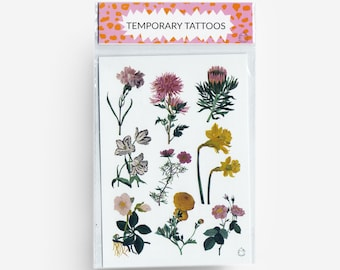 Flowers A6 Temporary Tattoos