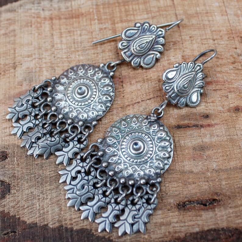Indian Earrings Jewelry,925 Sterling Silver Earrings,Oxidized,Dangle Earrings,Beautiful Handmade Earrings,Rajasthani Earrings Gift Womens