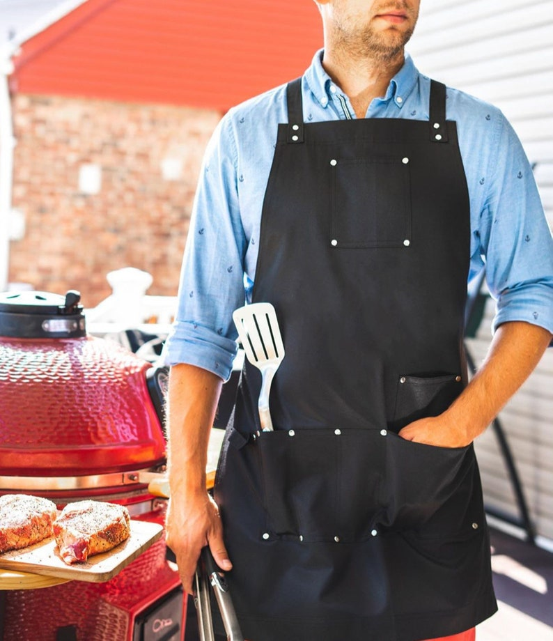 BBQ Barbecue King Printed Apron Funny Custom Baking Cooking Chef Business Gift