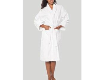 Cotton Terry BathRobe Personalized - Pure Turkish Cotton Spa Robe - Personalized  Towel d5a5c50ab