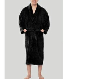 a9aea26569 Personalized Terry Bathrobes for Men- Turkish Terry BathRobe - Shawl Collar  Towel Robe -Navy Blue Cotton BathRobe