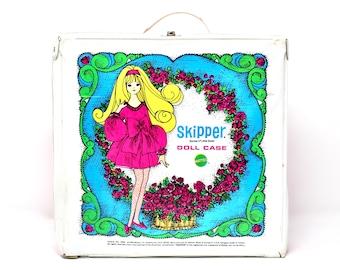 Vintage 60s Skipper Barbie Doll Fashion Carry Case, Mod Retro Doll Trunk for Barbie Francie Skipper