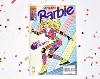 Rollerblade Barbie Fashion Marvel Comic Book, Vintage 90s Barbie Doll Magazine with Ads