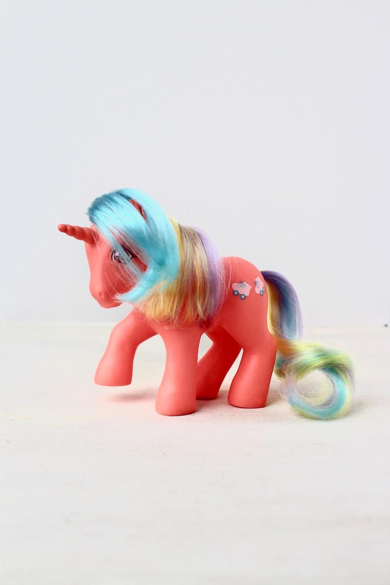 MLP Birthday Party Gift My Little Pony G1 Speedy Twinkle-Eyed Orange Unicorn Pony Vintage 80s Girl Toy