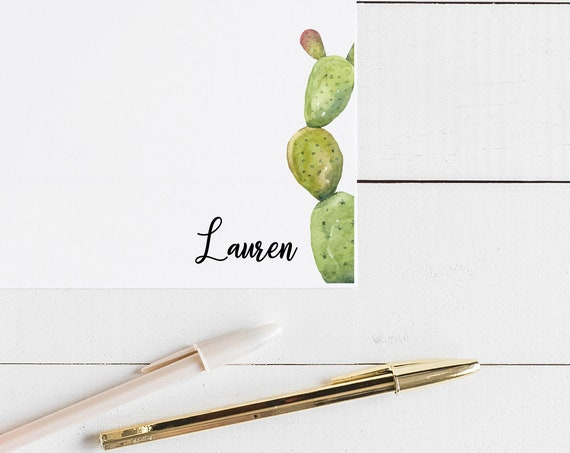 Cactus Personalized Notecards