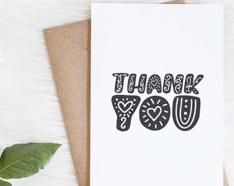Doodle Thank You Card Set