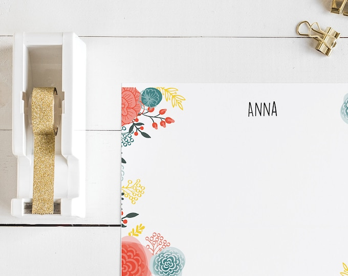Fun Floral Personalized Notecards