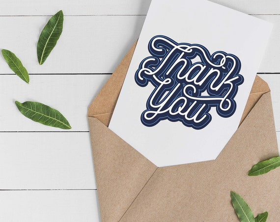 Blue Thank You Card Set