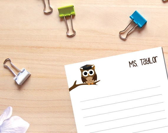 Personalized Owl Note Pad