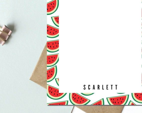 Personalized Watermelon Notepad
