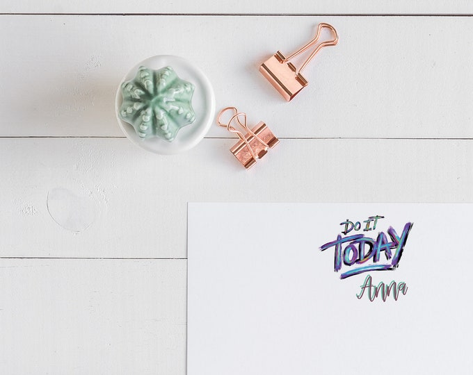 Motivational Personalized Notecards