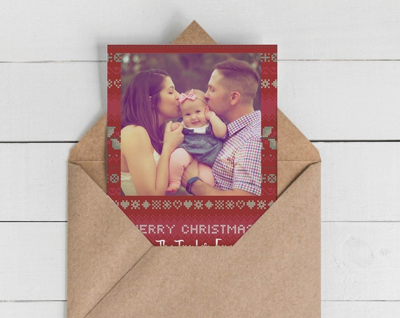 Photo Ugly Sweater Christmas Cards