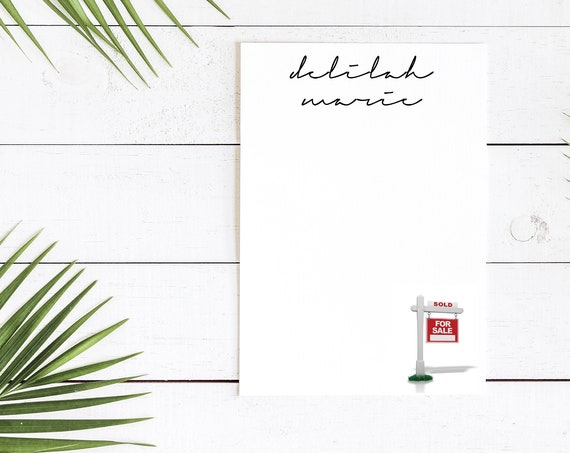 New Home Personalized Notepads