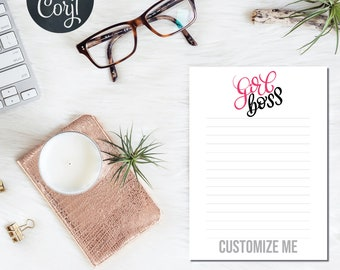 Girl Boss Notepad